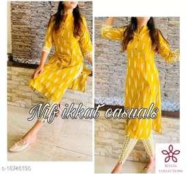 Catalog Name:*Kashvi Petite Kurtis Fabric Cotton Slub Sleeve Length