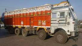 TATA 3718 with front lift tyres