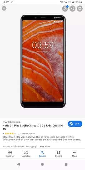 Nokia 3.1plus 3gb 32gb