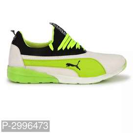 Green Mesh Sports Shoes For Men's