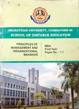 MBA first year regular books