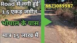 1.5 Acre Farmland on Damar Road Near Bhopal