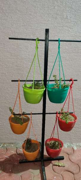 Multi purpose stand for plants, helmet clothes hanging