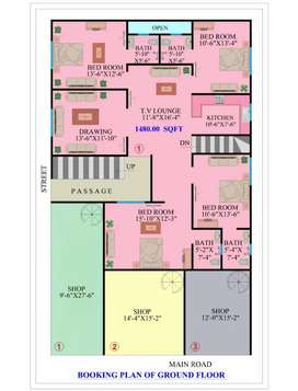 Portion 1480 square feet
