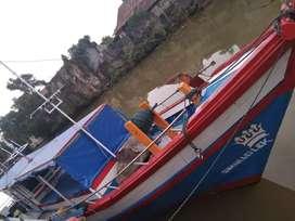 Di jual kapal kayu GT 12 mesin fuso 6D14