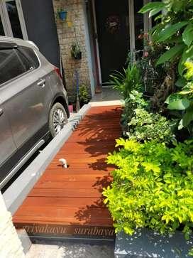Pool decking kayu/decking taman/lantai kayu/plafon kayu/kisi ruangan