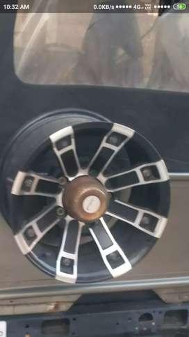 Alloy wheel 5piece new condition urgent sell for thar bolero gypsy etc