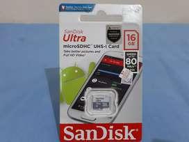 MicroSD SandisknOriginal 16G Baru