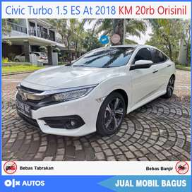 Civic Turbo 1.5 ES Sedan AT 2018 KM 20rb Orisinil Bisa Kredit