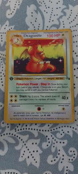 1st edition dragonite Pokemon card