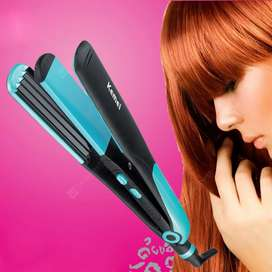 Hair straightener two in one