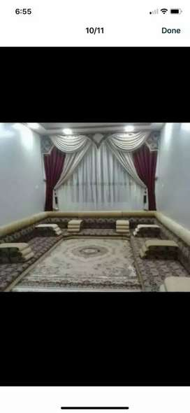 Super luxurious arabians floor majlis making