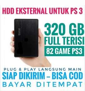 HDD 320GB Mantap Murah Harganya FULL 82 GAME PS3 KEKINIAN Siap Dikirim