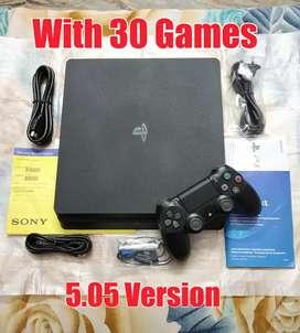 Sony Playstation 4(Ps4) 1TB Slim With 30 Games Full Kit Good Condition