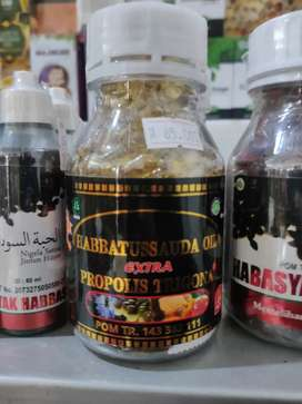 Habbatussauda oil extra propolis trigona di Denpasar Bali