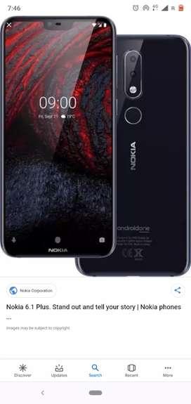 Nokia 6.1 Plus 11months old phone 8 64