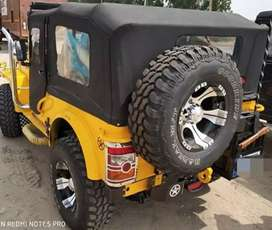 Yellow modified jeep