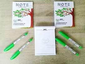 Seminar kit cetak blocknote pulpen free desain