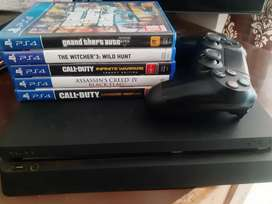 Ps4 Slim 1TB model 1 Controller 5 Game DVDs