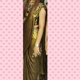 For slim girls only stiched saree