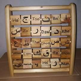 Mainan Edukasi Hijaiyah - Mainan Kayu - Artistic Hijaiyah