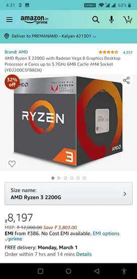 Gaming Ryzen 3 2200G / 8gb DDR4 / Fast 240 GB NVM2 Samsung/ 4 gb Graph