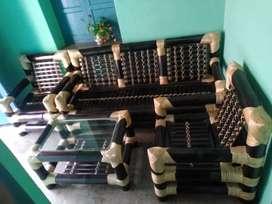Sofa set made up of bamboo