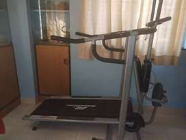 Rarely used, good condition 4in 1 treadmill
