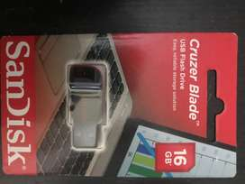 Brand New Cruzer Blade Sandisk 16GB Pendrive