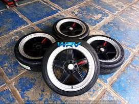velg recing ROTIFROM R17 + BAN FORCEUM HENA 215 40 R17