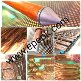 Copper Earth Rod | Lightning arrester, Earthing Material in Faisalabad