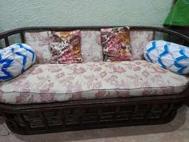Wooden seater sofa set