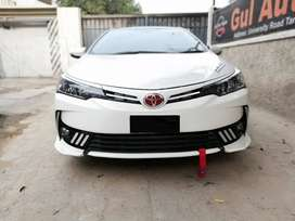 corolla 2018 body kits in fiber material