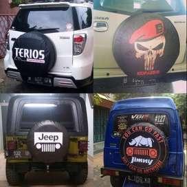 pasang Cover/Sarung Ban serep Jimny/Rush/Terios/Everest yg lagi trendi