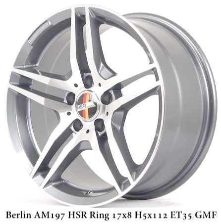 velg Berlin ring 17x8 hole 5x112 et 35 HSR 0
