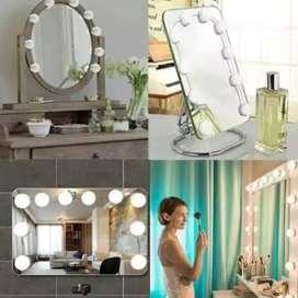 10Pcs/Set Lampu Bohlam LED 10W +Kabel Meja Rias/Makeup/Kosmetik Wanita
