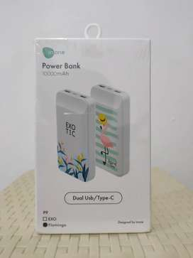 Powerbank P9 inone Flamingo 10000mAh fast charging