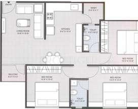 Three BHK flat on Rent in A new Bldg at Banco, Bill