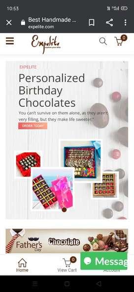 Expelite chocolate company graphic job Photoshop with coraldraw