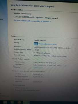 Hp probook 4730s core i5 2nd genration full size