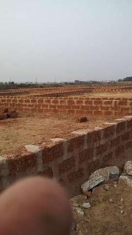 Gharabari Boundary corner plot at Vingarpur near Balianta