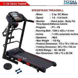 treadmill Elektrik 5 Fungsi TL 138 Murah Bisa COD