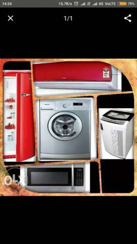 refrigerator washing machine airconditioner nd Aluminum partition work