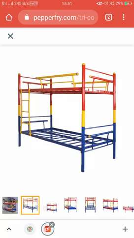 Bunk beds in metal with powder coating