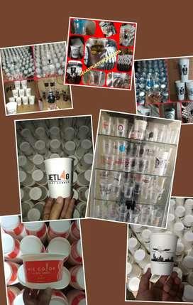 Grosir Gelas plastik Thai Tea Sablon/Printing (GELAS CUP PLASTIk)14oz
