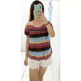 Rainbow stripe top