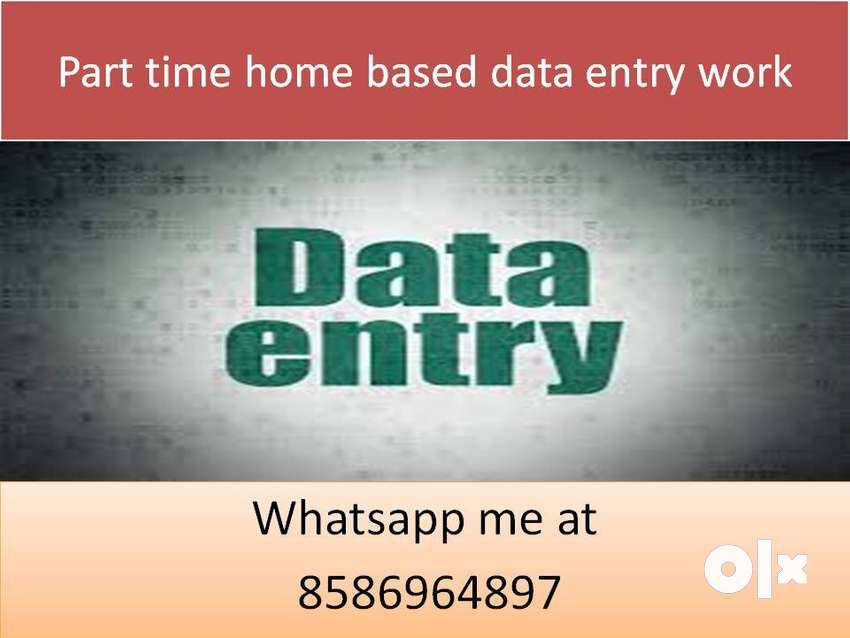 Home based job part time work data entry job typing work 0