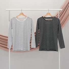 Kaos wanita | Kaos lengan panjang | Kaos hitam | Kaos putih