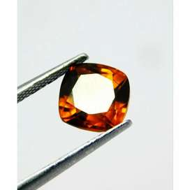 Natural 2.90 Ct. Brown Garnet Mozambique Gemstone Memo Internasional