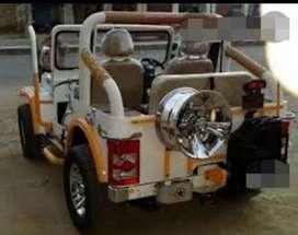 Landi white jeep
